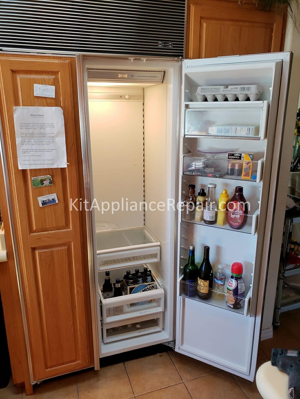 Sub Zero 561 Refrigerator No Cold Repair Los Altos Ca