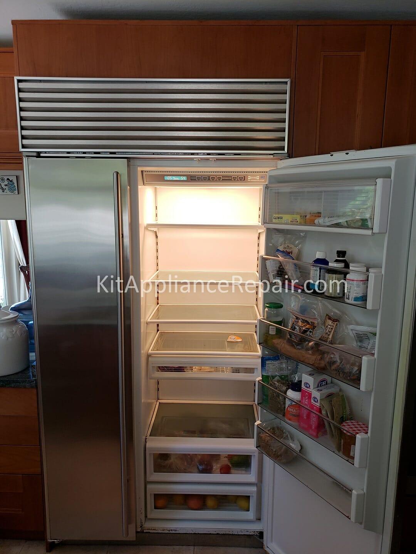 Sub Zero 642 Refrigerator No Cold Repair San Francisco